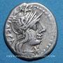 Münzen République romaine. M. Porcius Laeca (vers 125 av. J-C). Denier