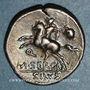 Münzen République romaine. M. Sergius Silus (vers 116-115 av. J-C). Denier