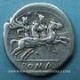 Münzen République romaine. Monnayage anonyme (vers 211-206 av. J-C). Denier