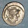 Münzen République romaine. Monnayage anonyme. Vers 211-206 av. J-C. Denier