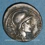 Münzen République romaine. P. Fonteius P. F. Capito (vers 55 av. J-C). Denier