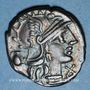 Münzen République romaine. Sex. Pompeius Fostlus (vers 137 av. J-C). Denier