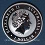 Münzen Australie. Elisabeth II (1952- /). 1 dollar 2017 Kookaburra