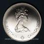 Münzen Canada. Elisabeth II (1952- /). 5 dollars 1975. J.O. Montréal. Natation
