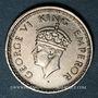 Münzen Indes Anglaises. Georges VI (1936-1952). 1/4 roupie 1943B. Bombay
