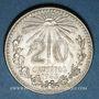 Münzen Mexique. 2e République. 20 centavos 1943