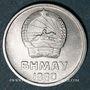 Münzen Mongolie, République populaire, 1 mongo 1980