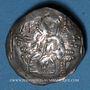 Münzen Empire de Trébizonde. Manuel I Comnène (1238-1263). Aspre ou tricéphale (nomisma trachy aspron)