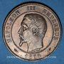 Objets volés 2e empire (1852-1870). 10 cmes tête nue 1854A