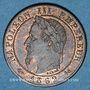 Objets volés 2e empire (1852-70), 1 cme tête laurée 1862K Bordeaux