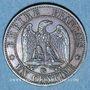 Objets volés 2e empire (1852-70), 1 cme tête nue 1856BB Strasbourg
