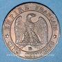 Objets volés 2e empire (1852-70), 5 cmes tête laurée 1863BB Strasbourg