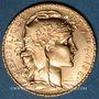 Objets volés 3e république (1870-1940). 20 francs Marianne 1914. 900 /1000. 6,45 gr
