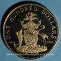 Objets volés Bahamas. Elisabeth II. 100 dollars 1973. 585 /1000. 14,54 gr