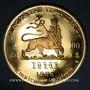 Objets volés Ethiopie. Hailé Selassié I (1930-1936, 1941-1974). 100 dollars 1966. 900 /1000. 40 g.
