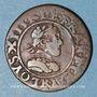 Objets volés Louis XIII (1610-1643). Double tournois, au grand buste enfantin, 1616R. Villeneuve