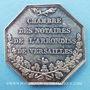 Objets volés Notaires, Versailles, jeton argent. Poinçon : main indicatrice