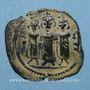 Coins Palestine. Umayyades. Ep. al-Mu'awiya (661-680H). Fals bilingue. Tabariya. Var. avec tayyib