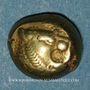 Monnaies Royaume de Lydie. Epoque de Alyattes II à Kroisos, 610-540 av. J-C. Trité d'électrum. Sardes