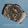 Monnaies Rutènes. Région de Rodez. Drachme au sanglier et à la petite tête au collier perlé. 1er s. av. J-C