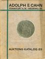 Second hand books Cahn A., Francfort, vente aux enchères n° 63, 15.04.1929. Rheinische Sammlung (Slg. Strauss)
