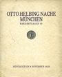 Second hand books Helbing O., Munich. Auktions Katalog du 08.11.1928