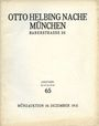 Second hand books Helbing O., Munich. Auktions Katalog n° 65 du 10.12.1931