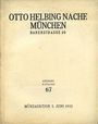 Second hand books Helbing O., Munich. Auktions Katalog n° 67 du 07.06.1932