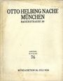 Second hand books Helbing O., Munich. Auktions Katalog n° 76 du 18.07.1934