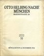 Second hand books Helbing O., Munich. Auktions Katalog n° 77 du 12.12.1934