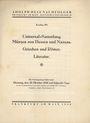 Second hand books Hess A., Francfort, vente aux enchères n° 202, 28.10.1930