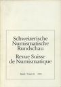 Second hand books Revue suisse de numismatique. 1983