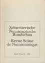 Second hand books Revue suisse de numismatique. 1984