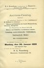 Second hand books Rosenberg H. S., Auktion-Catalog (N° 1). 30. Januar 1899