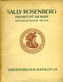 Second hand books Rosenberg Sally. Auktions Katalog n° 63 du 2.4.1928