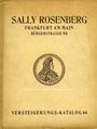 Second hand books Rosenberg Sally. Auktions Katalog n° 64 du 19.6.1928