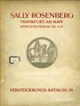 Second hand books Rosenberg Sally. Auktions Katalog n° 65 du 12.11.1928