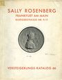 Second hand books Rosenberg Sally. Auktions Katalog n° 66 du 10.06.1929