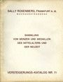 Second hand books Rosenberg Sally. Auktions Katalog n° 71 du 23.03.1932