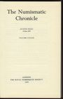 Second hand books The Numismatic Chronicle. Volume CXXXIX. 1979