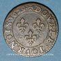 Stolen objects Louis XIII (1610-1643). Double tournois au buste juvénile et col fraisé 1629A
