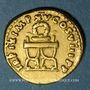 Monnaies Titus (79-81). Aureus. Rome, 80. R/: couronne sur une chaise curule