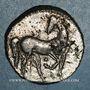 Monnaies Zeugitane. Carthage. 1 1/2 shekel de billon. Carthage, 230-220 av. J-C